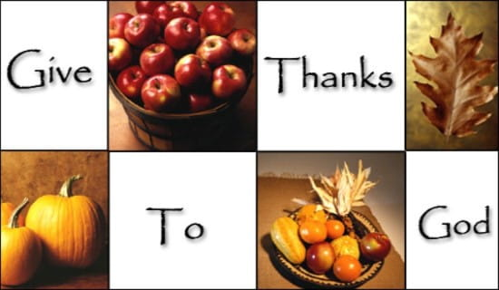 Give Thanks To God ecard, online card