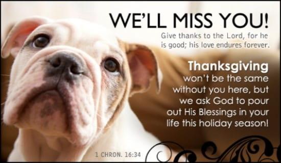 We'll Miss You ecard, online card