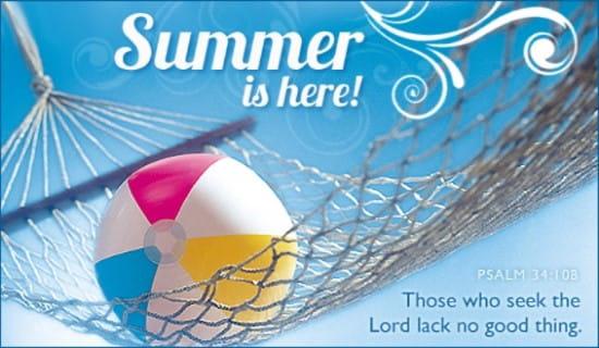 Summer is Here ecard, online card