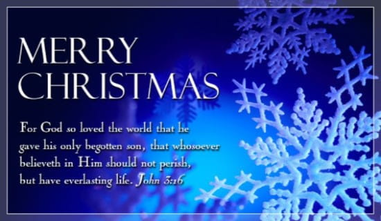 Merry Christmas John 316 Ecard Free Cards
