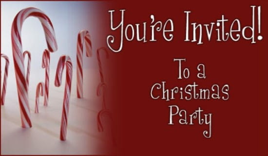 Free Christmas Party Invitation eCard eMail Free Personalized – Christmas Party Invitation Card