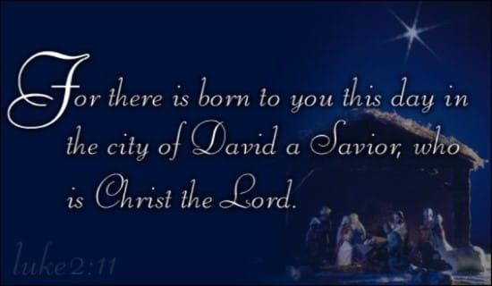 Christmas - Born A Savior