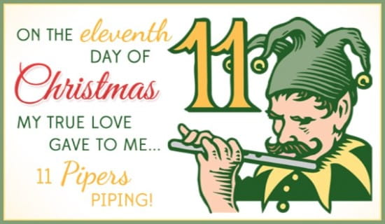 11 Pipers ecard, online card