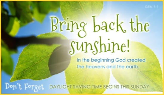 Image result for Daylight Savings begins