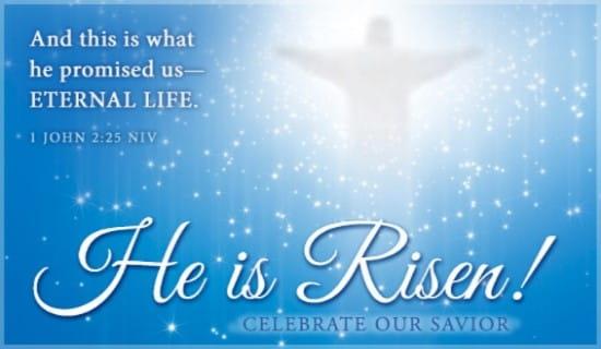 He is Risen ecard, online card