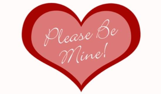 please be mine ecard