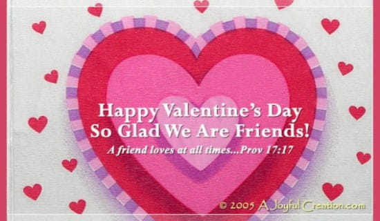 Valentine Friend eCard Free Valentines Day Cards Online – Valentine Card Friend