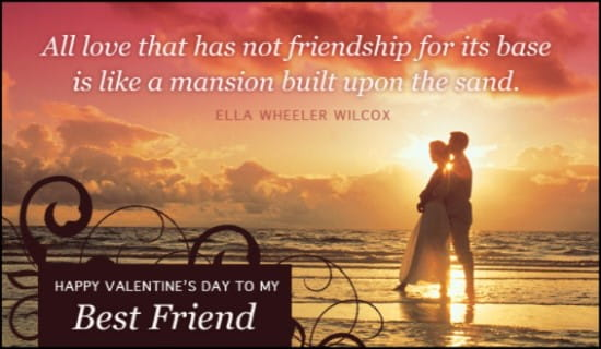 Best Friend eCard Free Valentines Day Cards Online – Valentine Cards Online Send