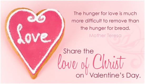 Love of Christ eCard Free Valentines Day Cards Online – Free Christian Valentine Cards