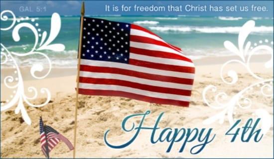 Happy 4th ecard, online card
