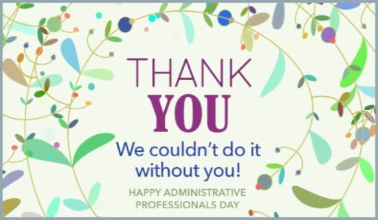 Thank You Quotes For Administrative Professionals Day: Free Administrative Professionals Day