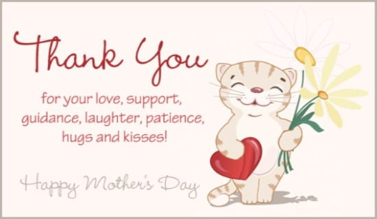 Thank You, Mom ecard, online card
