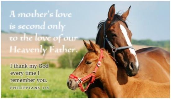 Mother's Love ecard, online card