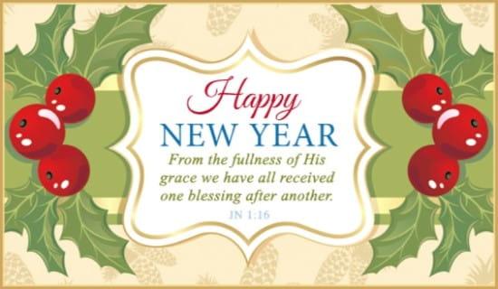 John 1:16 NIV eCard - Free New Year Cards Online