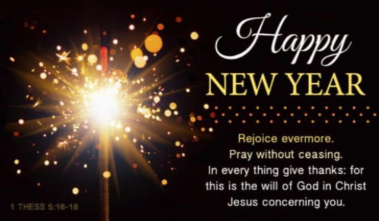 Happy New Year KJV eCard - Free New Year Cards Online