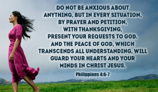 Don't Be Anxious about Anything