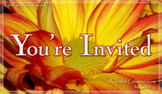 You're Invited!