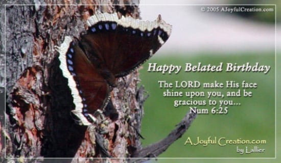 Awesome Happy Belated Ecard Free A Joyful Creation Greeting Funny Birthday Cards Online Aboleapandamsfinfo