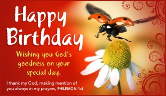 Free Gods Goodness eCard eMail Free Personalized Birthday Cards