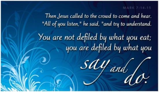 Mark 7:14-15