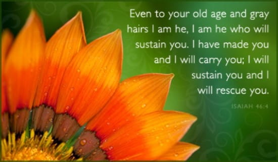 free isaiah 46 4 ecard
