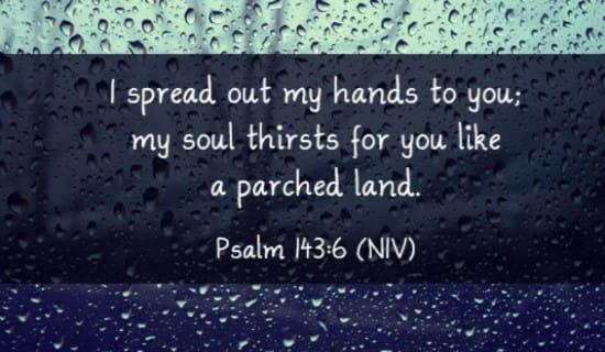 Psalm 143:6 NIV