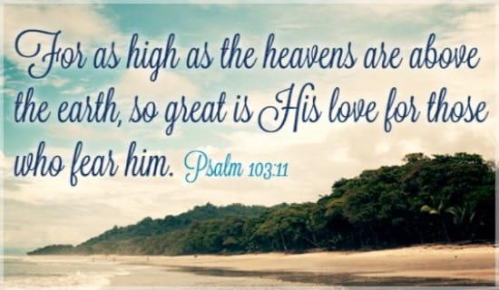 free psalm 103 11 ecard