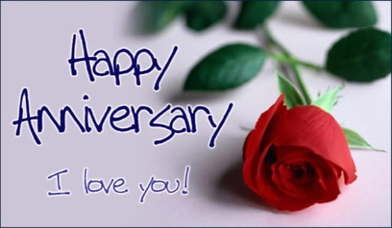 Happy anniversary ecard free greeting cards