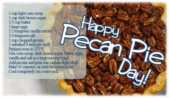 Pecan Pie Day (7/12)