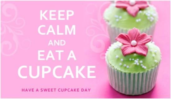 Cupcake Day (8/18) ecard, online card