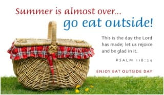 Eat Outside Day (8/31)