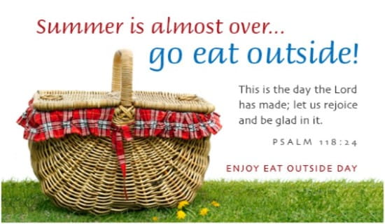 Eat Outside Day (8/31) ecard, online card