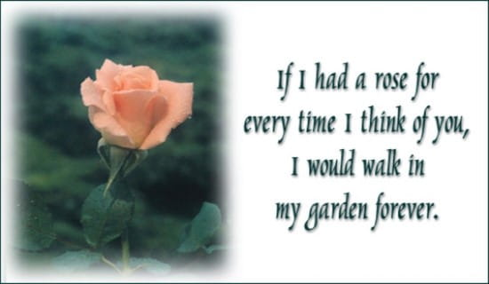 If I Had A Rose ecard, online card
