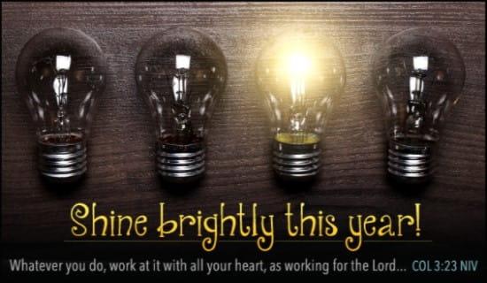 Shine Brightly This Year