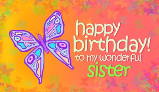 Free sister ecard email free personalized birthday cards online