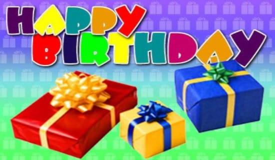 Happy Birthday - Presents