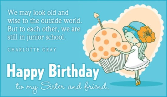 Free Birthday Sister Ecard Email Personalized Happy Singing