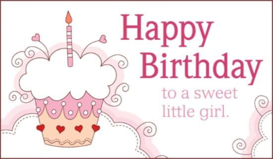 Free Sweet Girl eCard eMail Free Personalized Birthday Cards Online