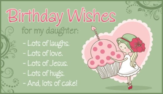free birthday  daughter ecard  email free personalized birthday, Birthday card