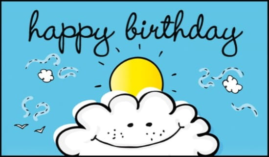 Free On A Cloud eCard eMail Free Personalized Birthday Cards Online – Online Birthday Cards