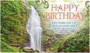 Birthday Waterfall