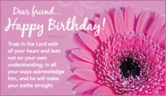 free trust in the lord ecard  email free personalized birthday, Birthday card