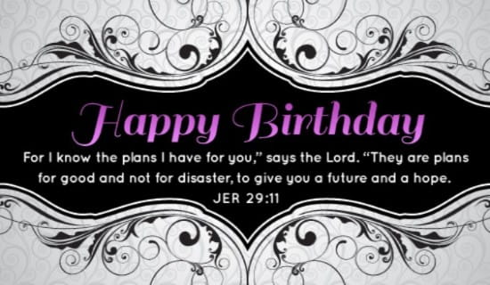 Free Jeremiah 2911 eCard eMail Free Personalized Birthday Cards