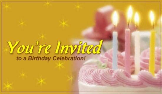 You're Invited To A Birthday Celebration