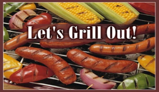 Let's Grill Out ecard, online card