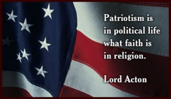 Lord Acton On Patriotism
