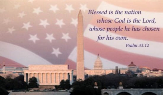 free blessed is the nation    ecard