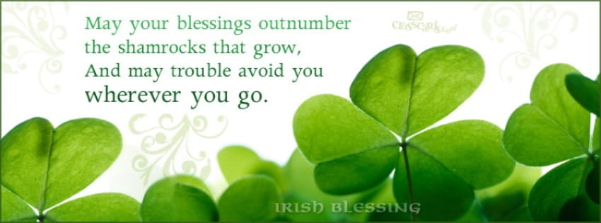 Irish Blessing Facebook Cover