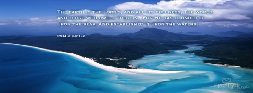 Download Psalm 24 1 2 Christian Facebook Cover Amp Banner