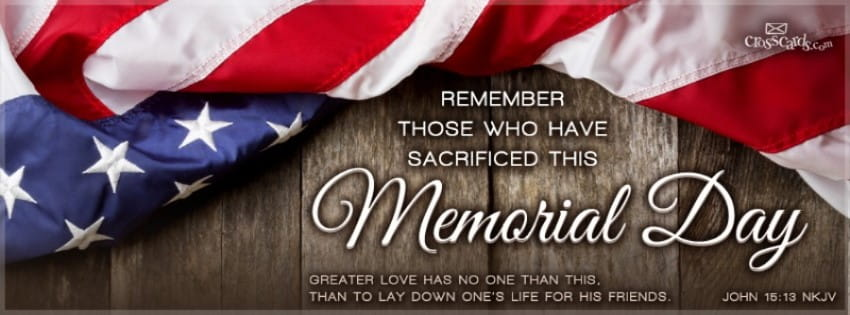 Memorial Day Bible Quotes: Christian Facebook Cover & Banner